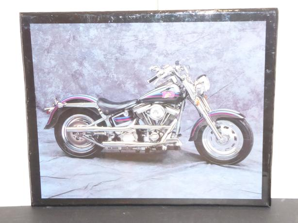 MOTORCYCLE PICTURE WITH A GLOSSY FINISH