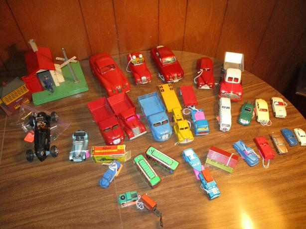 TOY CARS AND TRAIN ITEMS FROM ESTATE