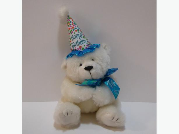 """BIRTHDAY BEAR"" TEDDY BEAR -- MINT -- NEVER USED OR PLAYED WITH"