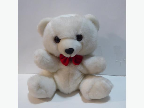 SOFT AND CUTE WHITE TEDDY BEAR PUPPET -- MINT -- NEVER PLAYED WITH