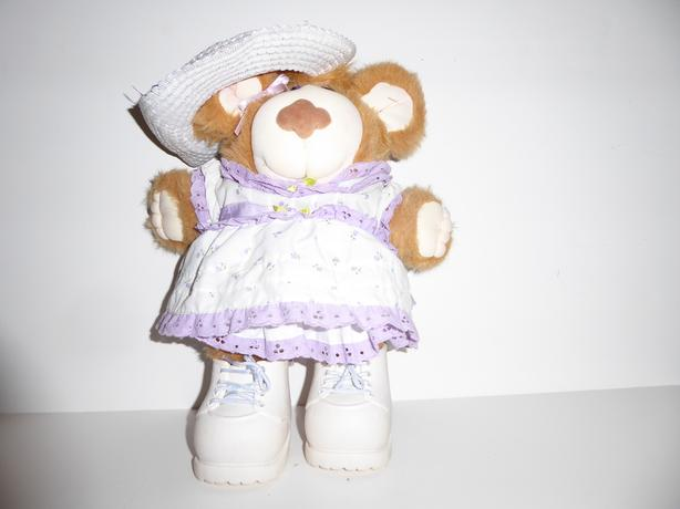 "VINTAGE 1985 ""LILA CLAIRE"" FURSKINS TEDDY BEAR DOLL WITH OUTFIT"