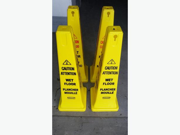 Janitor Wet Floor Safety Cones by RUBBERMAID