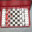 Vintage Staunton travelling chess circa 1930s