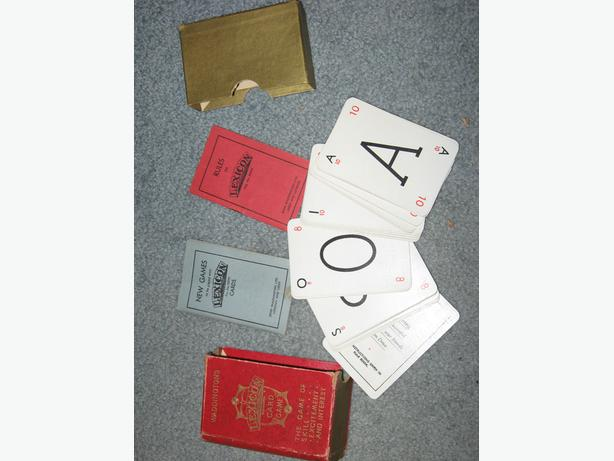 Lexicon card game circa 1935 complete in original box