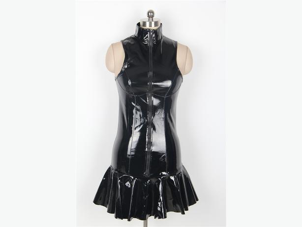 Patent PVC Sleeveless Dress xl