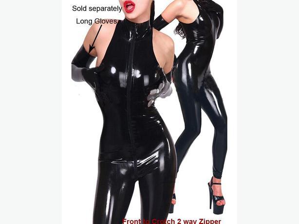 Sleeveless Catsuit black One Size