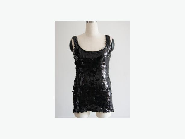 Sequins Front Top black One Size