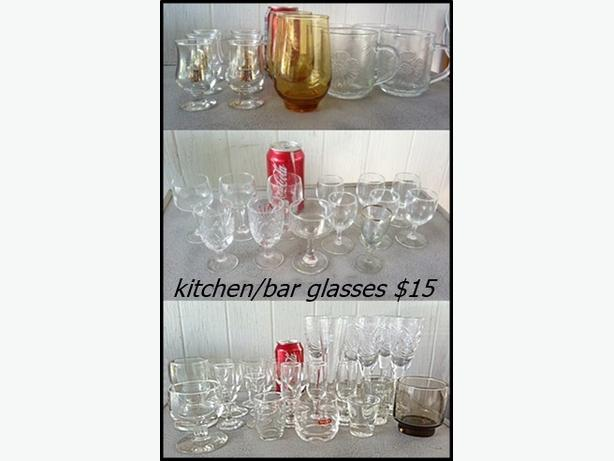 Variety of Glasses & Mugs for your kitchen and bar...
