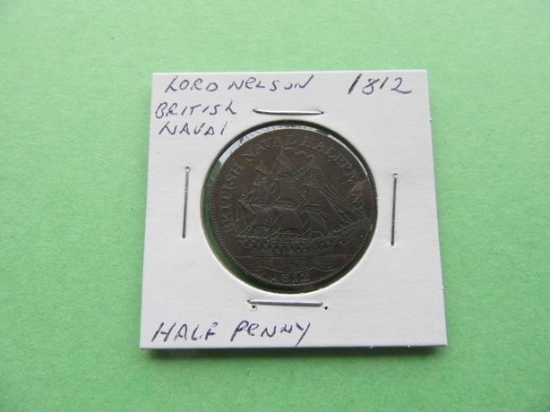 LORD NELSON BRITISH NAVAL HALF PENNY - 1812