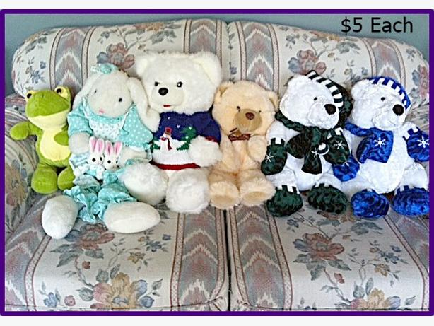 Big Clean Stuffed Animals $5 - $10 each