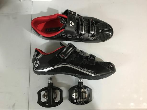 Like New - Bontrager Cycling Shoes and Shimano Pedals