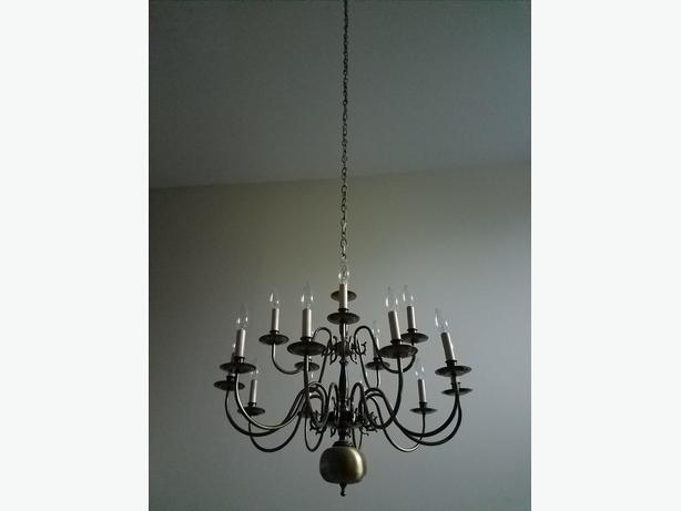 Chandelier Pendant Ceiling Light Fixture and 2 matching wall lights