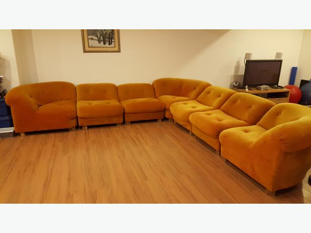 Sectional Orange Couch