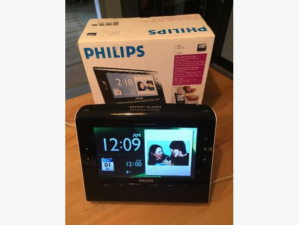 philips clock radio with pictures