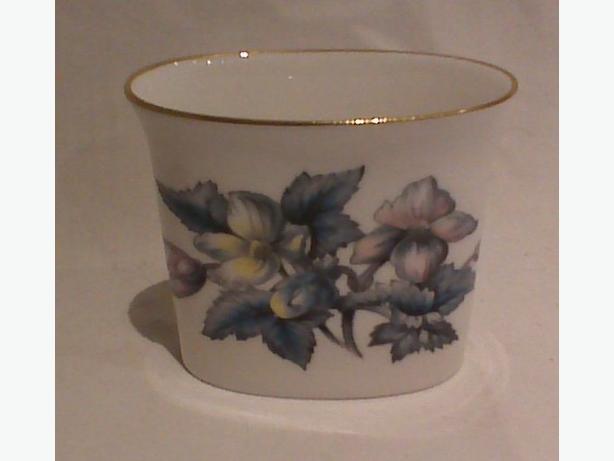 Royal Worcester oval vase or business card holder