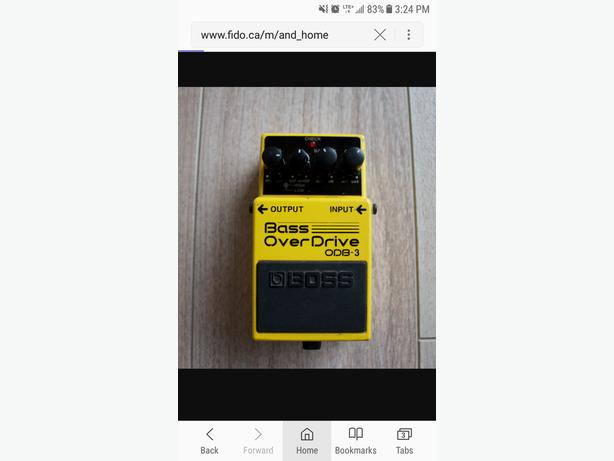 Boss ODB3 and digitech death metal pedals