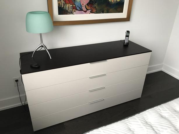 High end dresser and night table by Jesse (paid $2707)