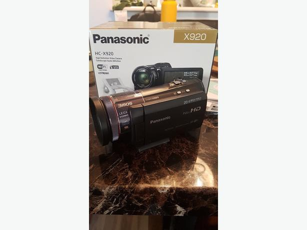 camera : Panasonic HC-X920 with extra batteries and memory card