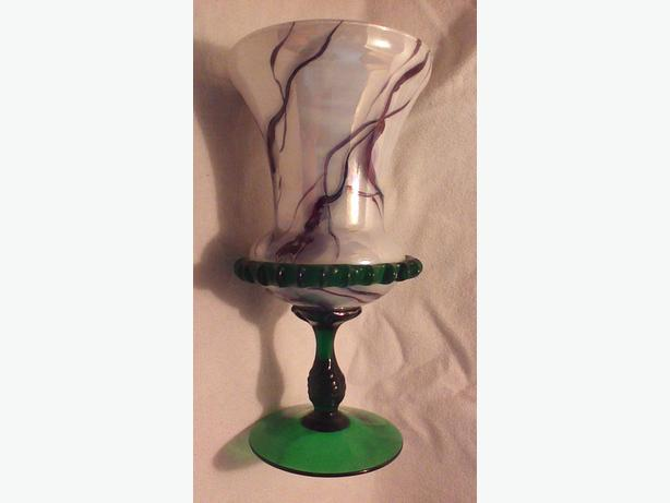 Glass trumpet vase
