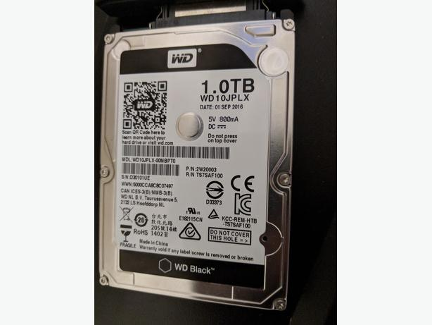 "Like New Western Digital 1TB 2.5"" Laptop 7200RPM Hard Drive"