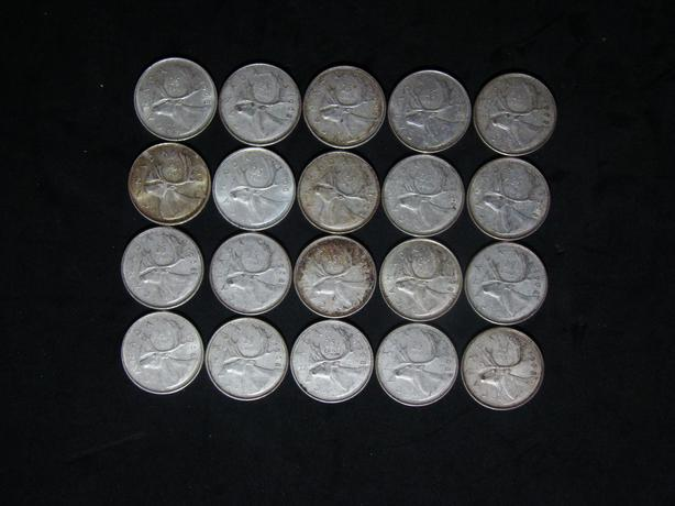 Lot of 20 Canada 1968 silver 25 cents