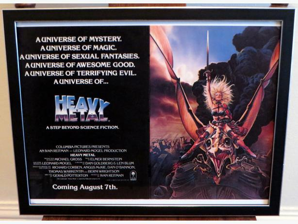 Framed HEAVY METAL Ad - Vintage 1981 - National Lampoon