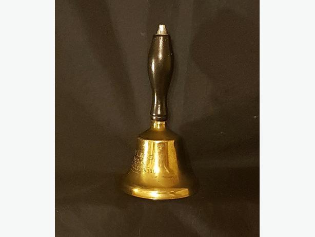vintage school bell, was grandmother's
