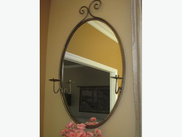 Quality Mirror Removable Candle Arms. BEAUTIFUL!