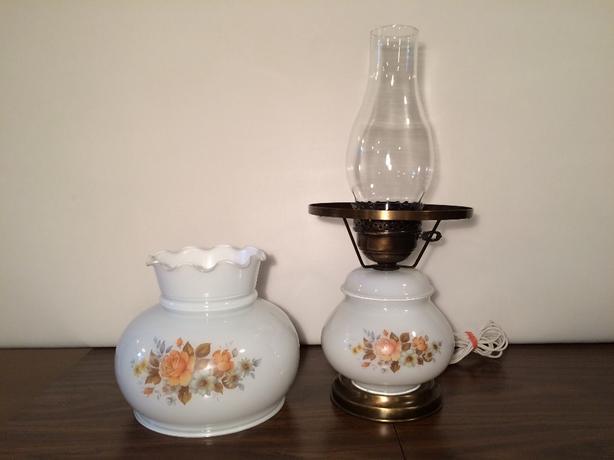 MILK GLASS HURRICANE LAMP