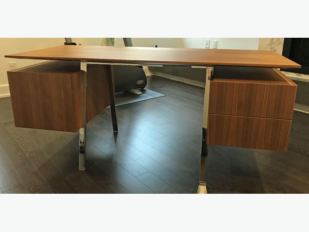 Bensen Walnut & Chrome Desk (sells new $4600)