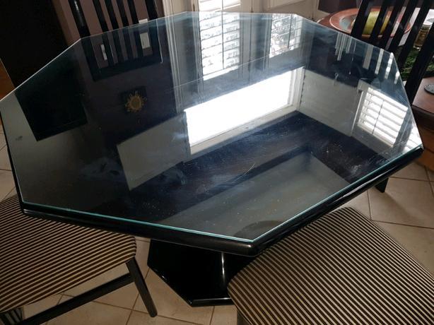 Black Hexagon Kitchen Table