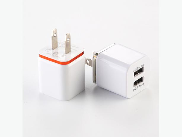 2 New US Plug 5V 2.1/1A Dual USB AC USB Wall Chargers - $10 each