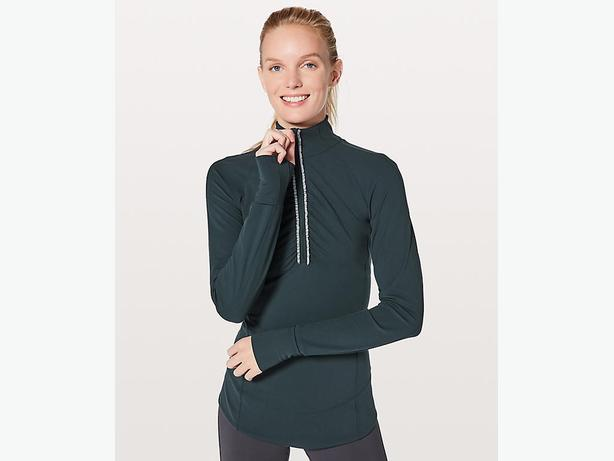 NEW - LULULEMON Fast As Light 1/2 Zip Run Pullover - Teal Size 10