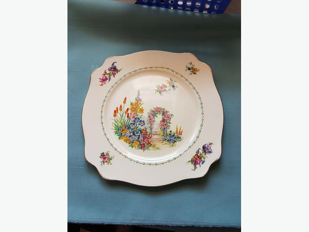 ROYAL STAFFORDSHIRE HANDPAINTED PLATE - VINTAGE