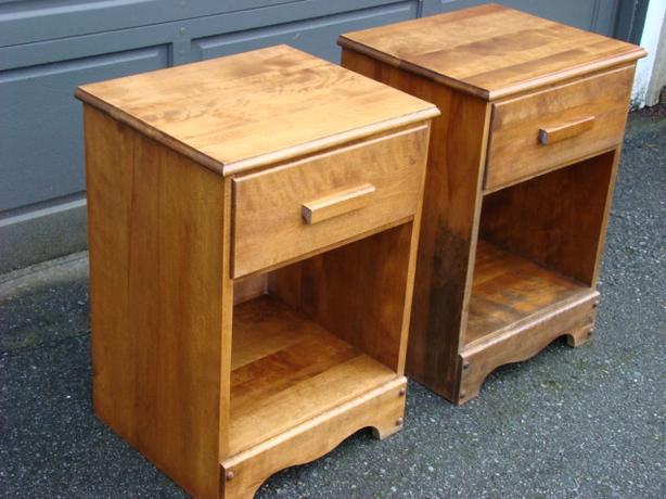 Two Matching Solid Wood Night Tables $125 each