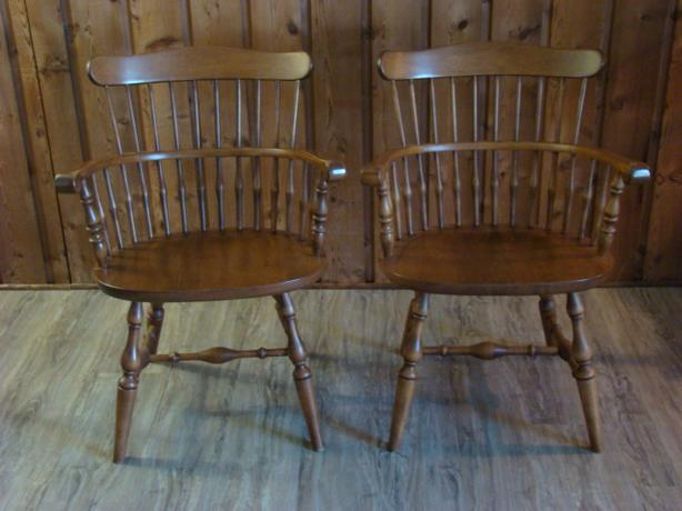Four Quality Maple Dining Chairs