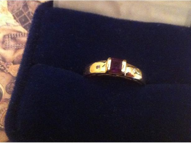 Gold solid ring 14K