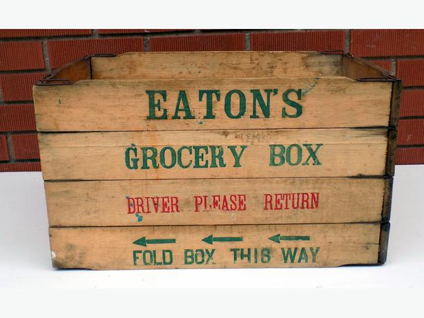 Eatons Wood Grocery Crate / Box