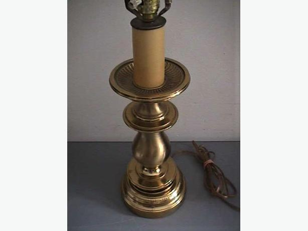 1978 WESTWOOD INDUSTRIES SOLID BRASS LAMP