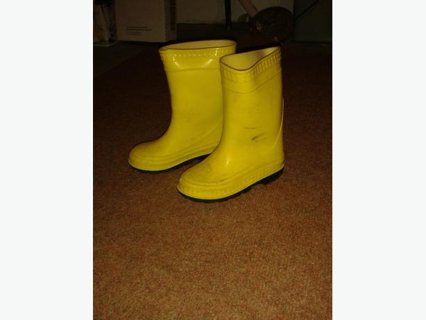 Unisex Yellow Rubber Boots