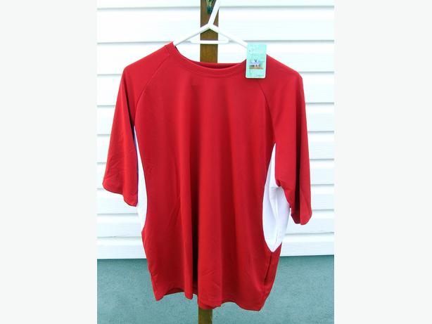 Cool Dry Red Short Sleeve Shirts- Men's Large -  Lot of 10