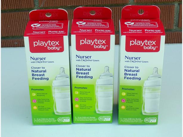 Playtex Baby BPA Free Nurser with Drop- in liners Bottle x3 – New