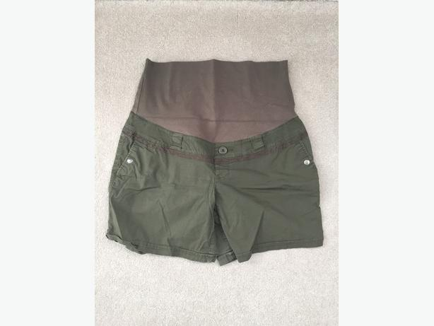 Green Maternity Shorts