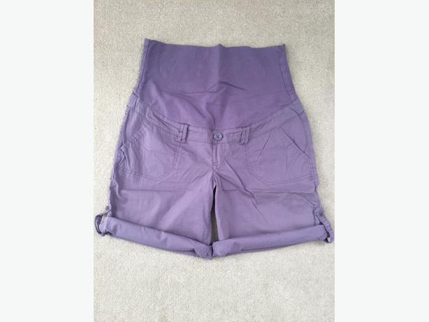 Purple Maternity Shorts