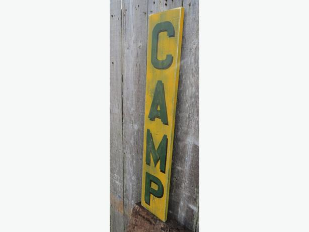 RUSTIC LODGE VINTAGE STYLE CAMP WOOD SIGN DECOR