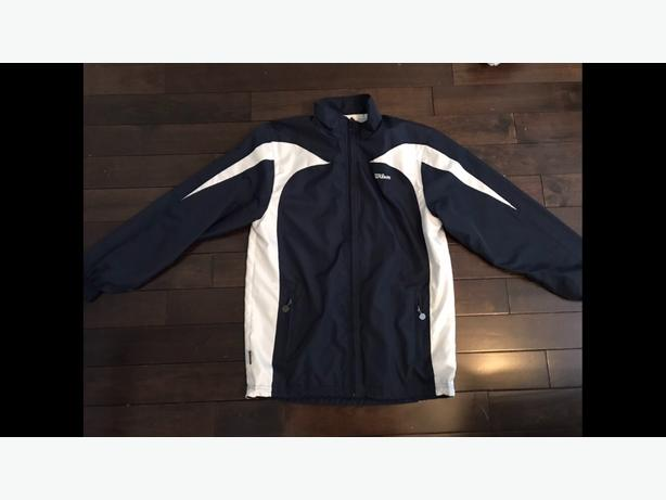wilson windbreaker navy and white