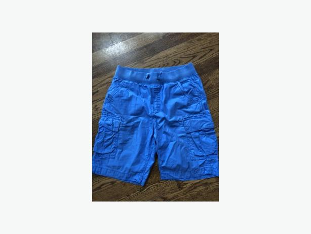 BOYS GAP PULL ON BLUE CARGO SHORTS SIZE 10 H