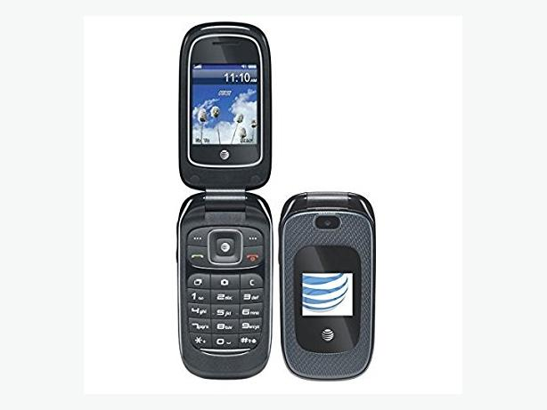 New, unlocked ZE Z222 flip phone.