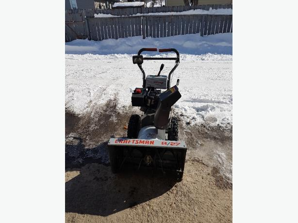 CRAFTSMAN SNOWBLOWER 8/27