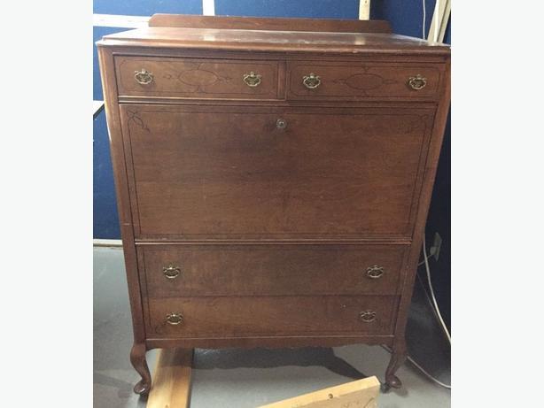 Vintage Farmhouse Highboy Dresser